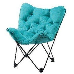 Foldable Black Dorm Room Chair